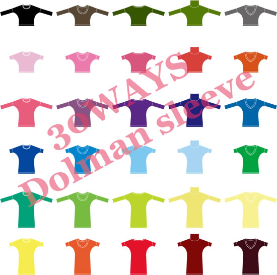 30ways dolman sleeve