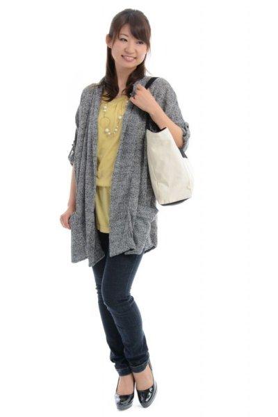 画像1: 巾着布付きトートバッグ