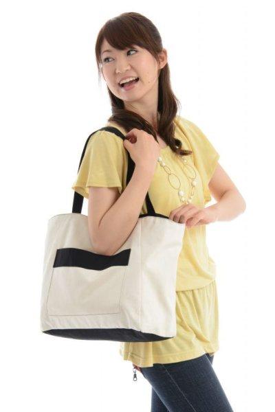 画像2: 巾着布付きトートバッグ