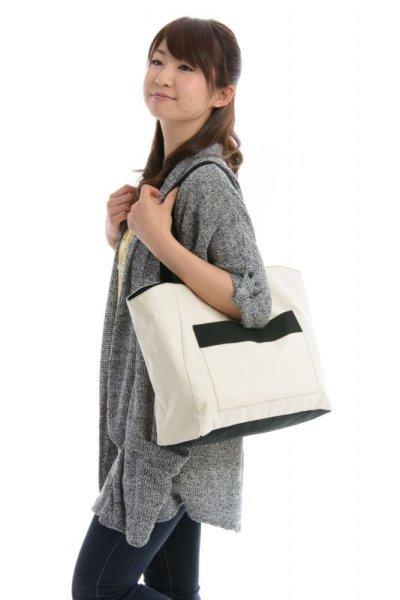 画像3: 巾着布付きトートバッグ