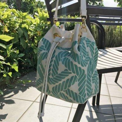 画像1: 巾着バケットバッグ・2WAYショルダーバック (Bucket Bag)