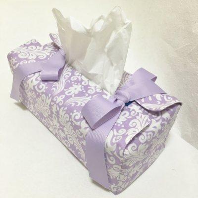 画像3: リボンティッシュボックスケース 型紙 A4用紙