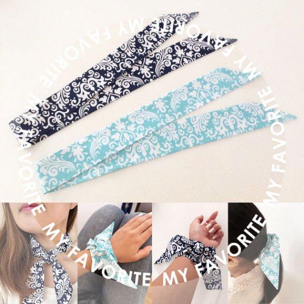 画像1: エルメス風 ツイリー型紙 スカーフ型紙 (A4用紙) (1)