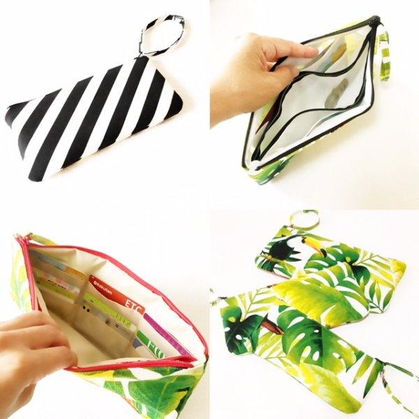画像1:  MMZ-57  Flora(フローラ)お財布ポーチ・型紙・パターン(3サイズセット) (1)