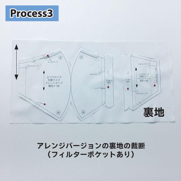 ダーツ マスク 型紙 【無料型紙】ダーツ入り立体マスクの作り方の作り方|マスク|マスク...
